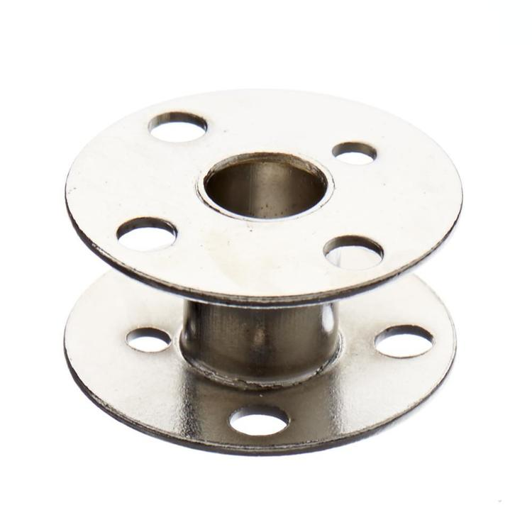 Birch 4-Hole Metal Bobbin Silver