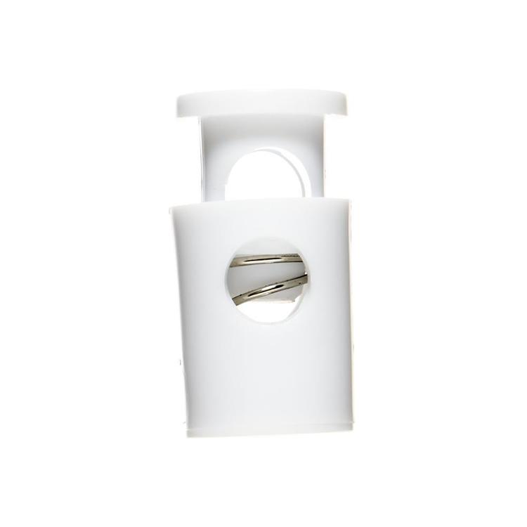 Birch Cylinder Plastic Cord Ends 2 Pack