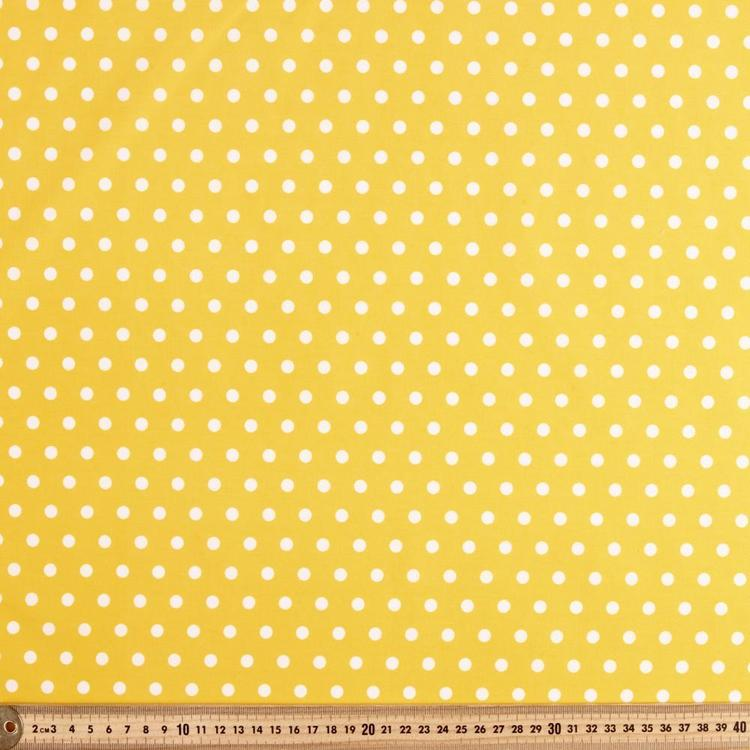 Spots & Stripes 112 cm Coin Printed Cotton Fabric