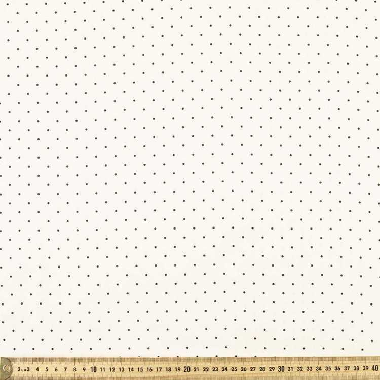 Spots & Stripes 112 cm Pinspot Cotton Poplin