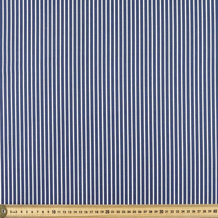 Striped 112 cm Cotton Fabric