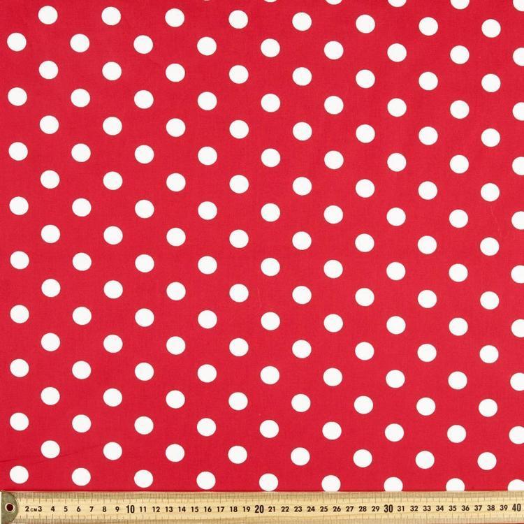 Spots Printed 112 cm Cotton Fabric