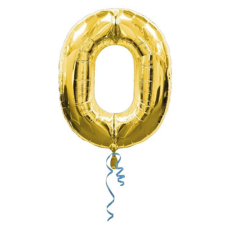 Qualatex Number 0 Foil Balloon