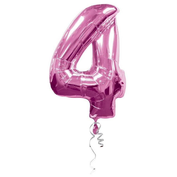 Qualatex Number 4 Foil Balloon