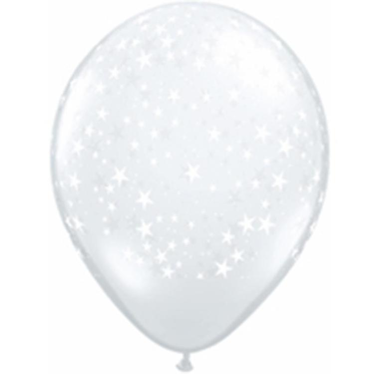 Qualatex Printed Stars Latex Balloon
