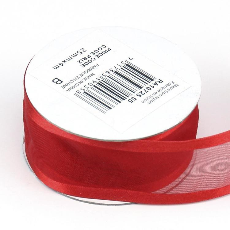 Celebrate 25 mm Organza Satin Edge Ribbon
