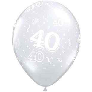 Qualatex 40th Latex Balloon