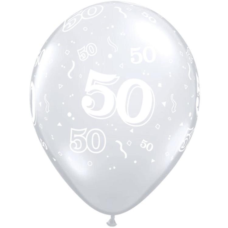 Qualatex 50th Latex Balloon