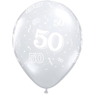 Qualatex 50th Latex Balloon