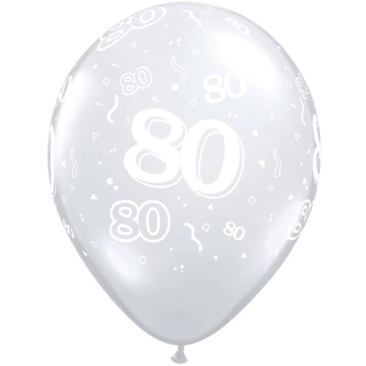 Qualatex 80th Latex Balloon