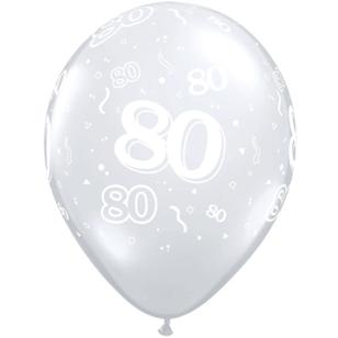 Qualatex 80th Latex Balloon