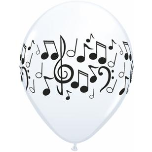 Qualatex Musical Notes Latex Balloon