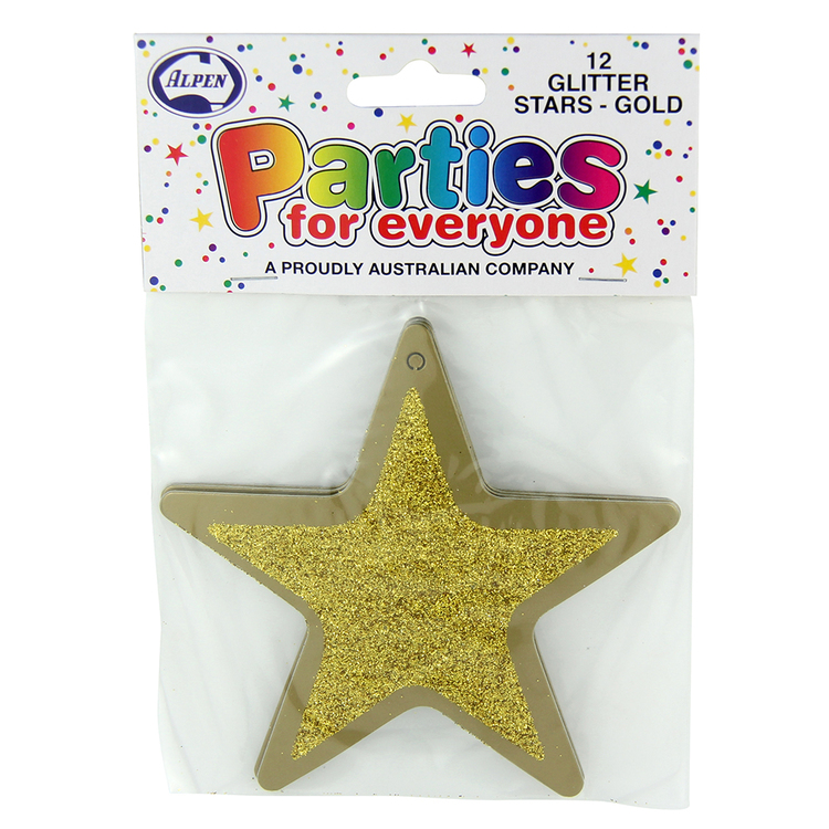Alpen Parties for Everyone Glitter Stars