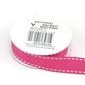 Celebrate 15 mm Grosgrain White Stitch Ribbon