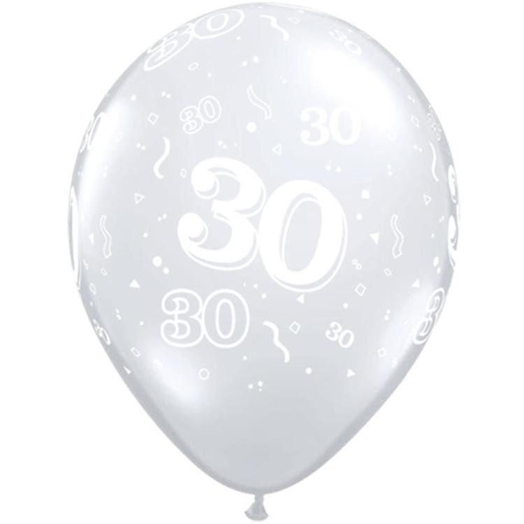 Qualatex 30th Latex Balloon