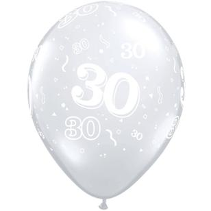 Qualatex 30th Latex Balloon