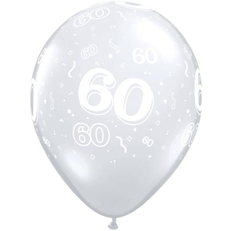 Qualatex 60th Latex Balloon