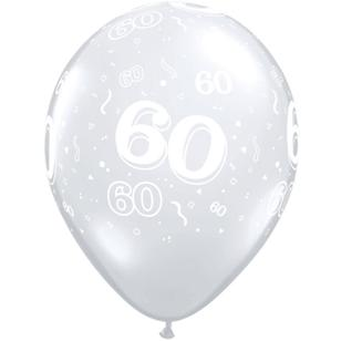 Qualatex 60th Latex Balloon