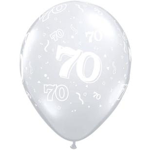 Qualatex 70th Latex Balloon