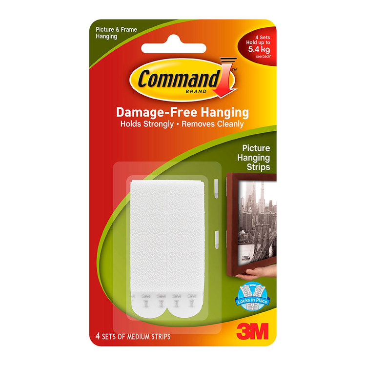3m Command Medium Picture Hanging Strips 4 Pack