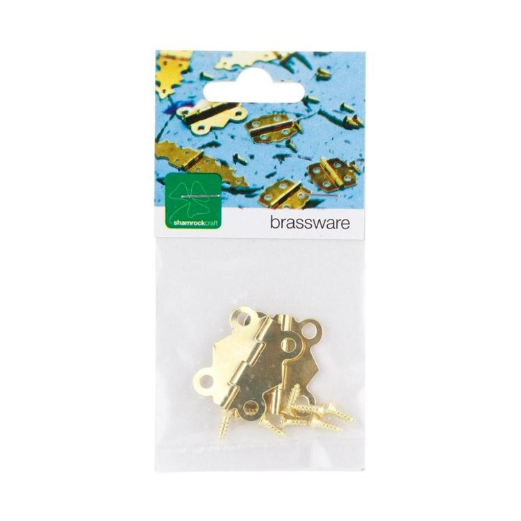 Shamrock Craft Brass Hinge Gold