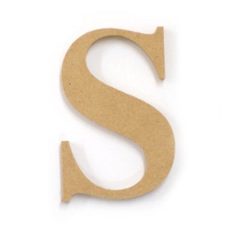 Kaisercraft Wood Letter S Natural