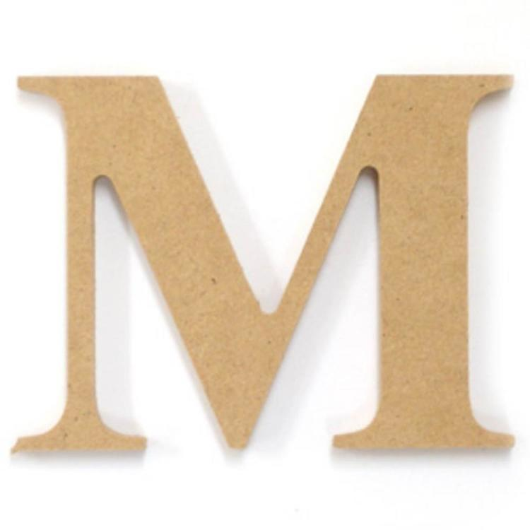 Kaisercraft Wood Letter M Natural 6 cm