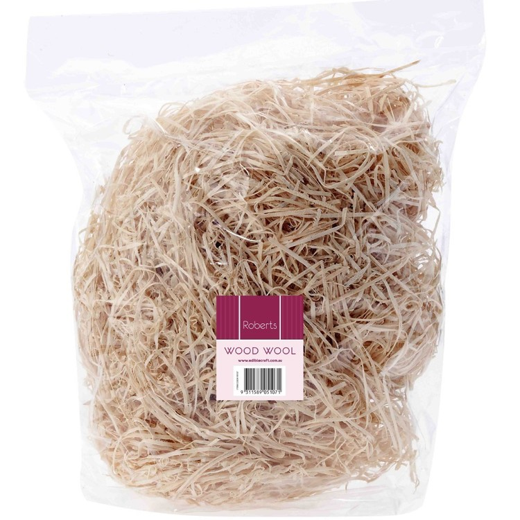 Roberts Edible Craft Wood Wool Brown 50 g
