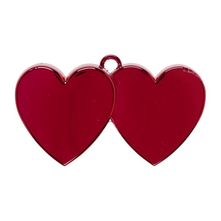 Amscan Red Electro Double Heart Balloon Weight Red