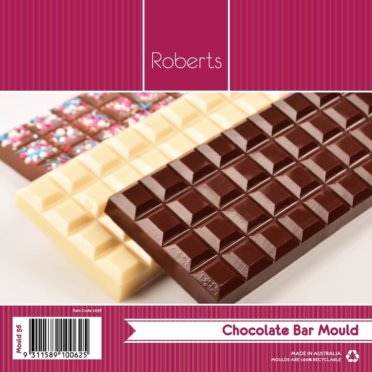 Roberts Edible Craft Robert Bar Shapes Chocolate Mould