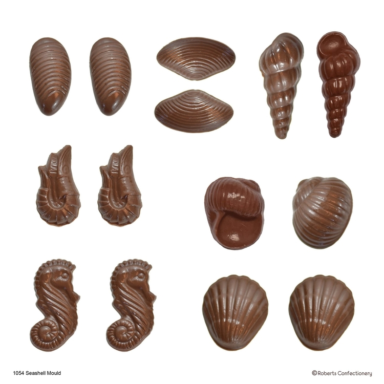 Roberts Edible Craft 3D Seashells Chocolate Mould Clear