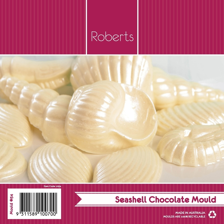 Roberts Edible Craft 3D Seashells Chocolate Mould