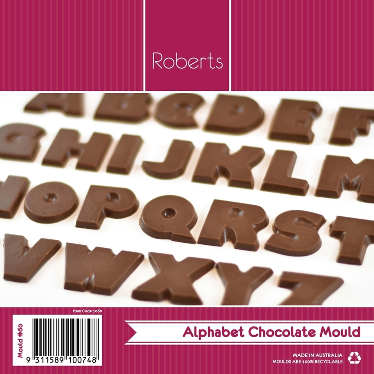 Roberts Edible Craft Alphabet Letters Chocolate Mould Clear