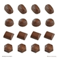 Roberts Edible Craft Pattern & Swirls Deep Filling Chocolate Mould Clear
