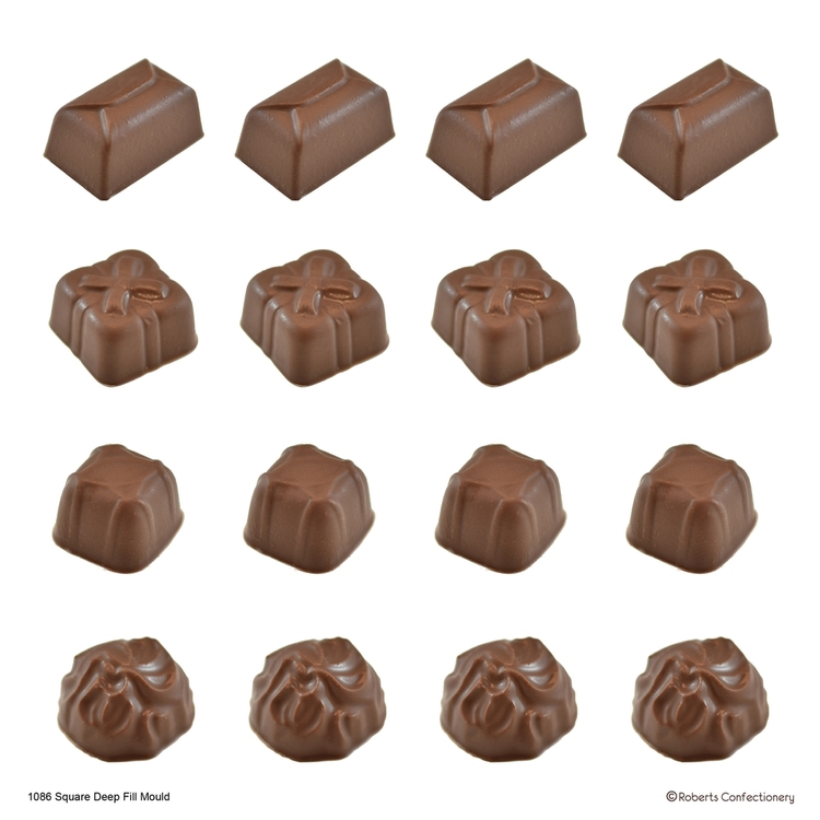 Roberts Edible Craft Deep Fill Square Shape Chocolate Mould Clear
