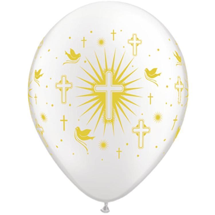 Qualatex Cross Amp Dove Latex Balloon