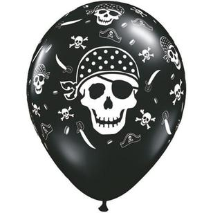 Qualatex Pirate Skull & Cross Latex Balloon