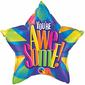 Qualatex You're Awesome Radiant Foil Balloon Multicoloured 50 cm