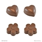 Roberts Edible Craft Flower & Hearts Chocolate Mould Clear