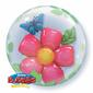 Qualatex Bubbles Leaves Flowers Balloon Multicoloured