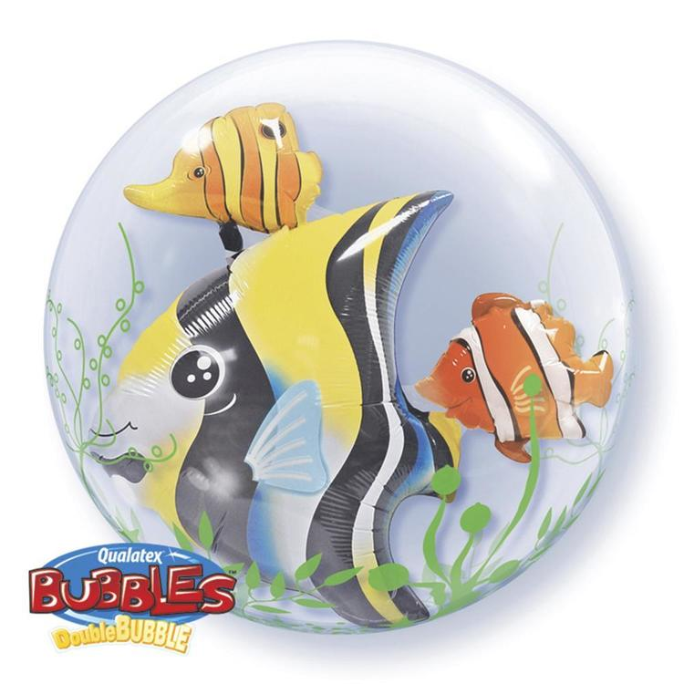 Qualatex Bubbles Seaweed Tropical Fish Balloon Multicoloured