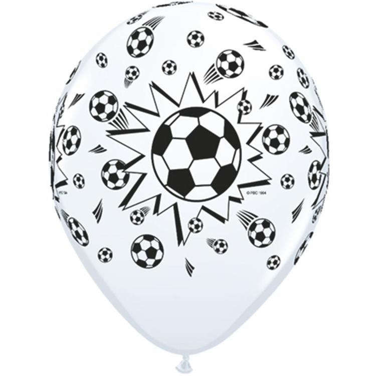 Qualatex Soccer Ball Latex Balloon White