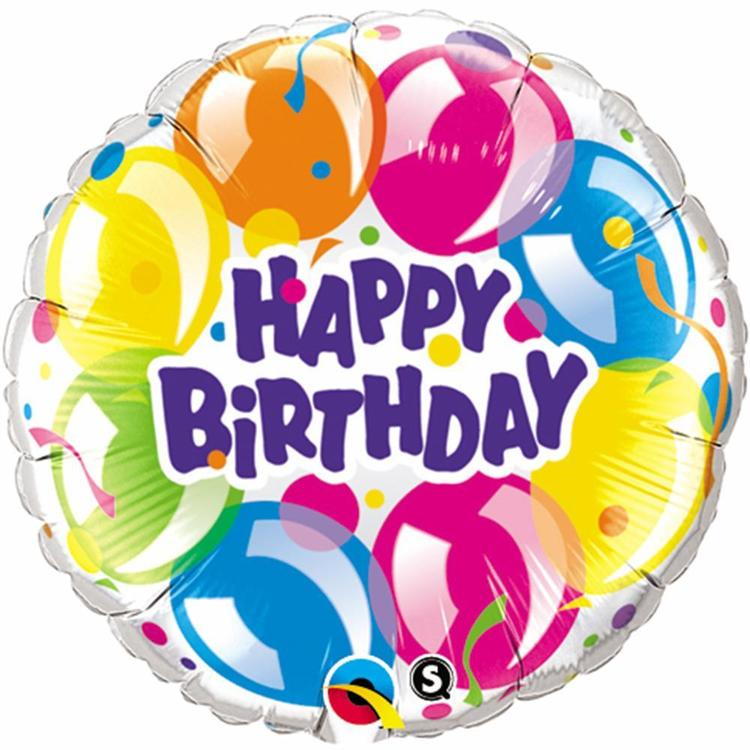 Qualatex Birthday Sparkling Foil Balloon
