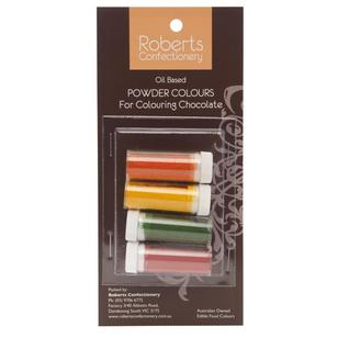 Roberts Edible Craft Coloured Oil Base Powder Dye Pack A