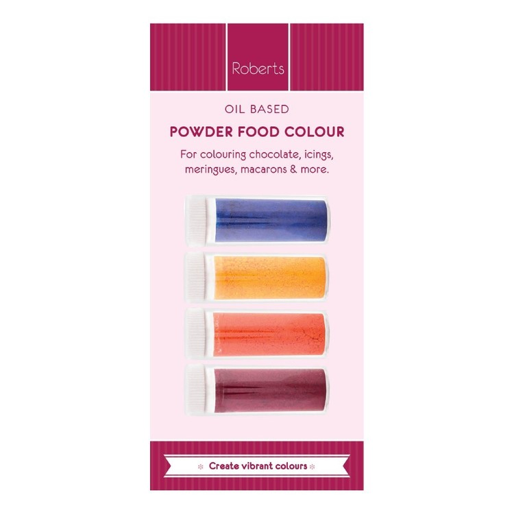 Roberts Edible Craft Coloured Oil Base Powder Dye Pack B Multicoloured