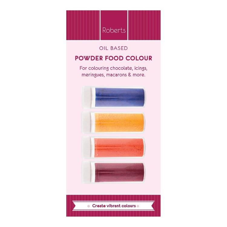 Roberts Edible Craft Coloured Oil Base Powder Dye Pack B