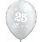 Qualatex 25th Anniversary Latex Balloon Silver