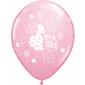 Qualatex It's A Girl Pony Latex Balloon Pink