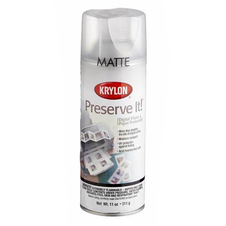 Krylon Preserve It Matte Clear