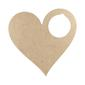 Kaisercraft Heart Door Hanger Natural